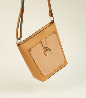 New Look - Mustard Contrast Ring Front Bucket Bag - 4