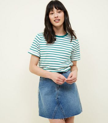 Tall Green Stripe Ringer T-Shirt