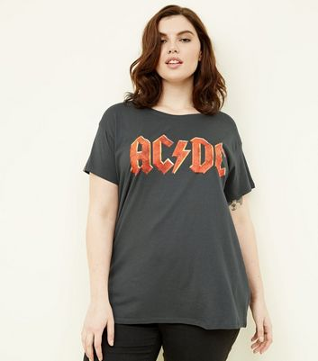 Curves Dark Grey ACDC Band T-Shirt