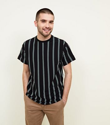 Black Double Vertical Stripe T-Shirt