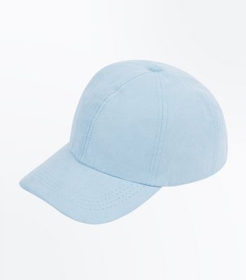 Pale Blue Suedette Cap by New Look