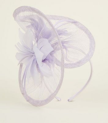 Lilac Mesh Feather Fascinator Headband