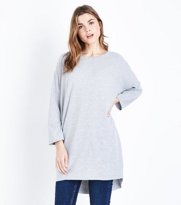 QED Grey Long Sleeve Tunic Top