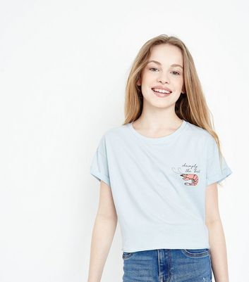 Teens Pale Blue Shrimp T-Shirt