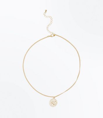gold-coin-pendant-necklace by new-look