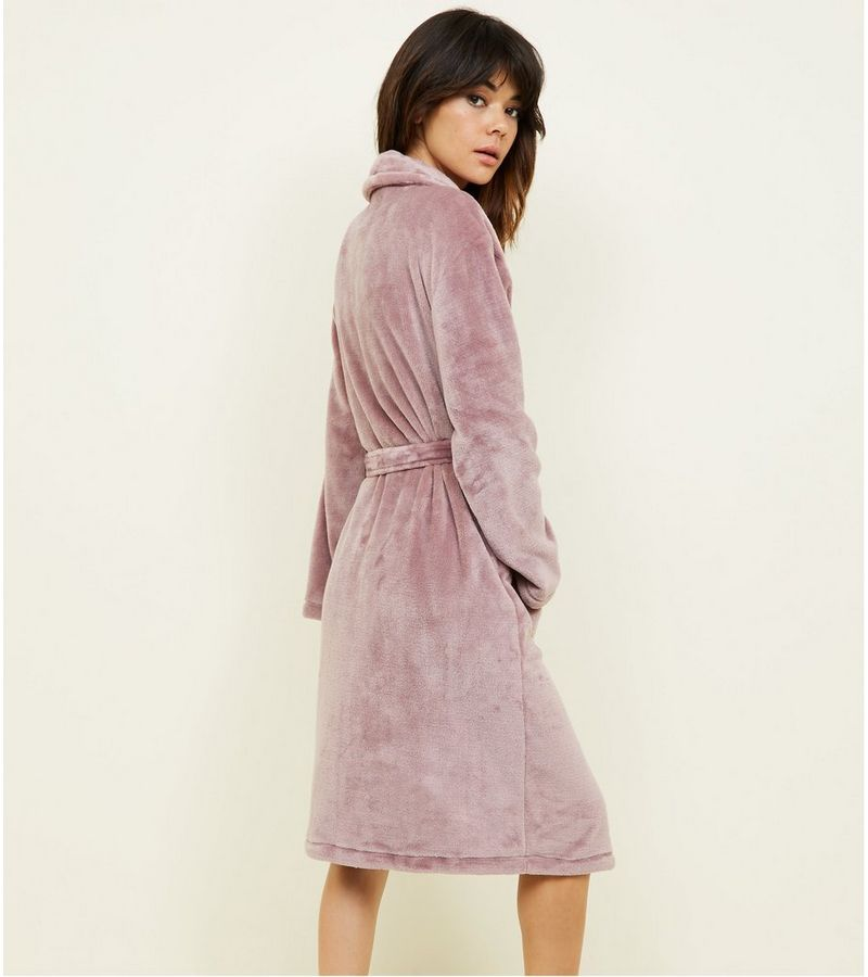 New Look Light Purple Fluffy Longline Dressing Gown at £17.99 | love ...