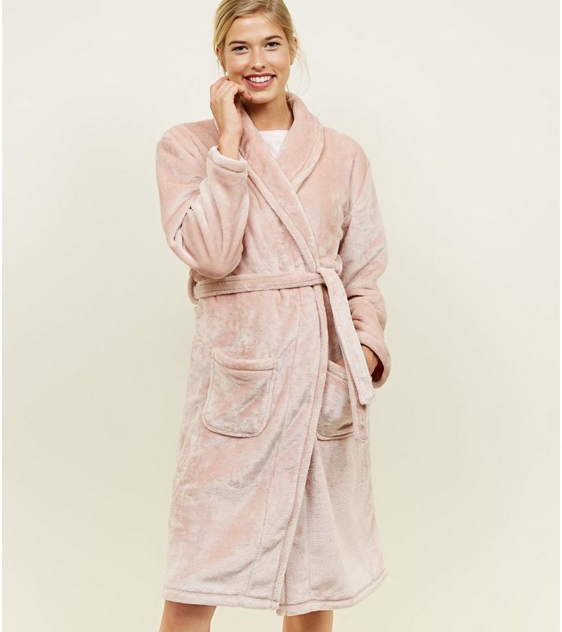 New Look Mid Pink Longline Dressing Gown at £17.99 | love the brands