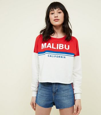 Cream Malibu Colour Block Sweatshirt