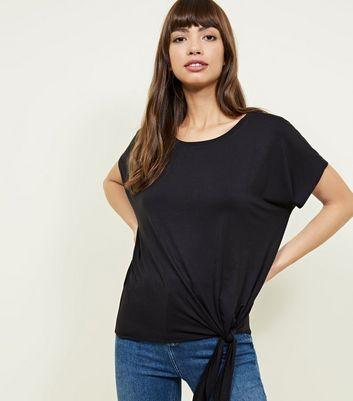 New Look - Black Tie Side T-Shirt - 1