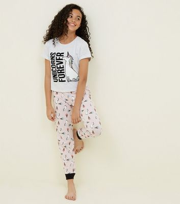 Girls Unicorns Forever Pyjama Set