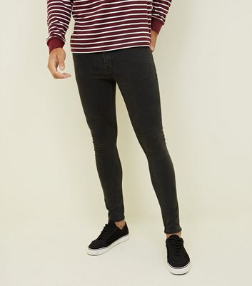 Dark Grey Super Skinny Stretch Jeans