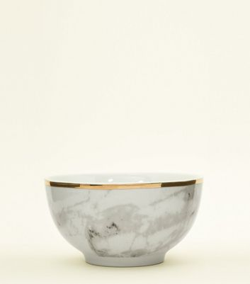 Grey Marble Bowl by New Look