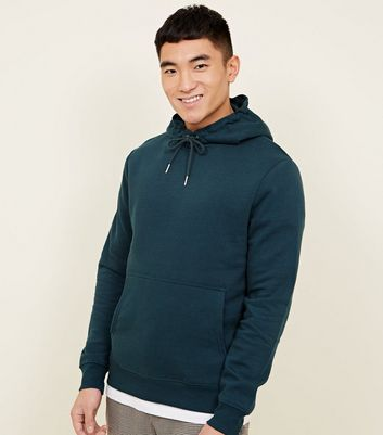 Teal Pocket Front Hoodie by New Look
