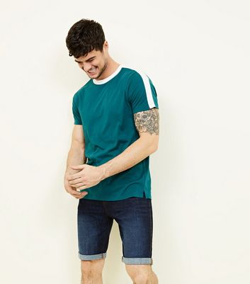Teal Side Stripe T-Shirt
