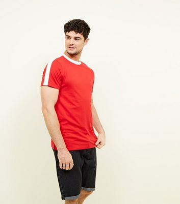 Red Side Stripe T-Shirt