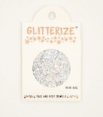 Silver Face and Body Glitter