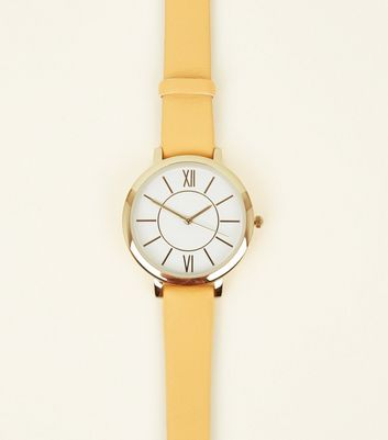 Yellow Strap Roman Dial Watch