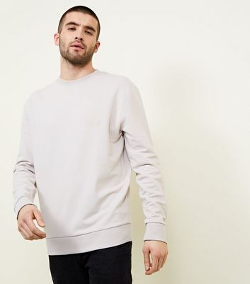 Pale Grey Embroidered Side Scales Sweatshirt
