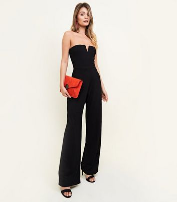 Black Notch Neck Jumpsuit