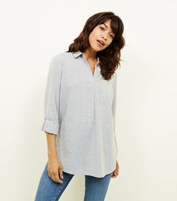 Grey Pocket Front Shirt