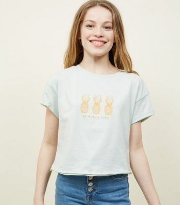 Teens Mint Green Pineapple T-Shirt