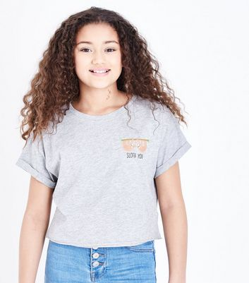 Teens Grey Sloth T-Shirt