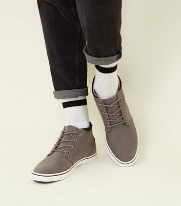 Grey Mid-Top Trainers