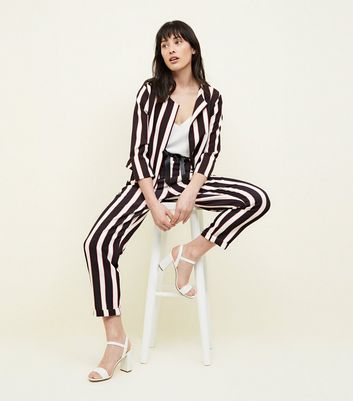 Cameo Rose Black Stripe Blazer