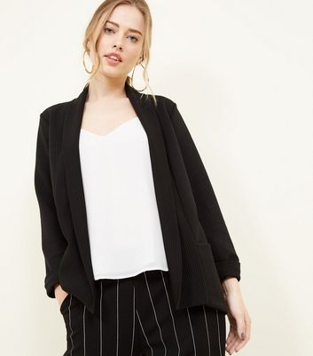 Cameo Rose Black Ribbed Jacket