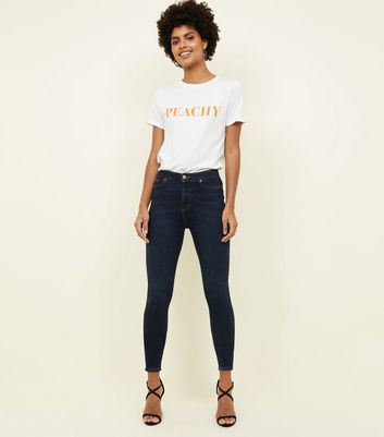 Blue Rinse Wash High Waist Super Skinny Hallie Jeans