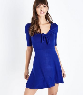 Innocence Blue Tie Front Dress