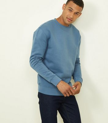 Bright Blue Cotton Blend Sweatshirt
