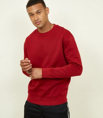Dark Red Cotton Blend Sweatshirt