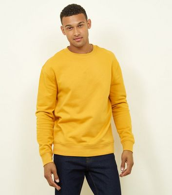 Yellow Cotton Blend Sweatshirt