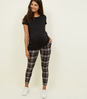 Maternity Red Check Trousers