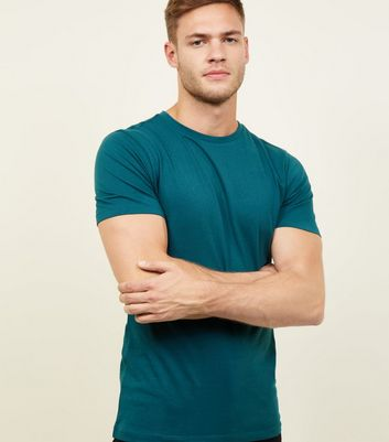 Teal Short Sleeve Muscle Fit T-Shirt