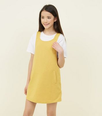 Teens Mustard Pinafore Dress