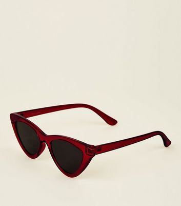 Red Tinted Cateye Sunglasses