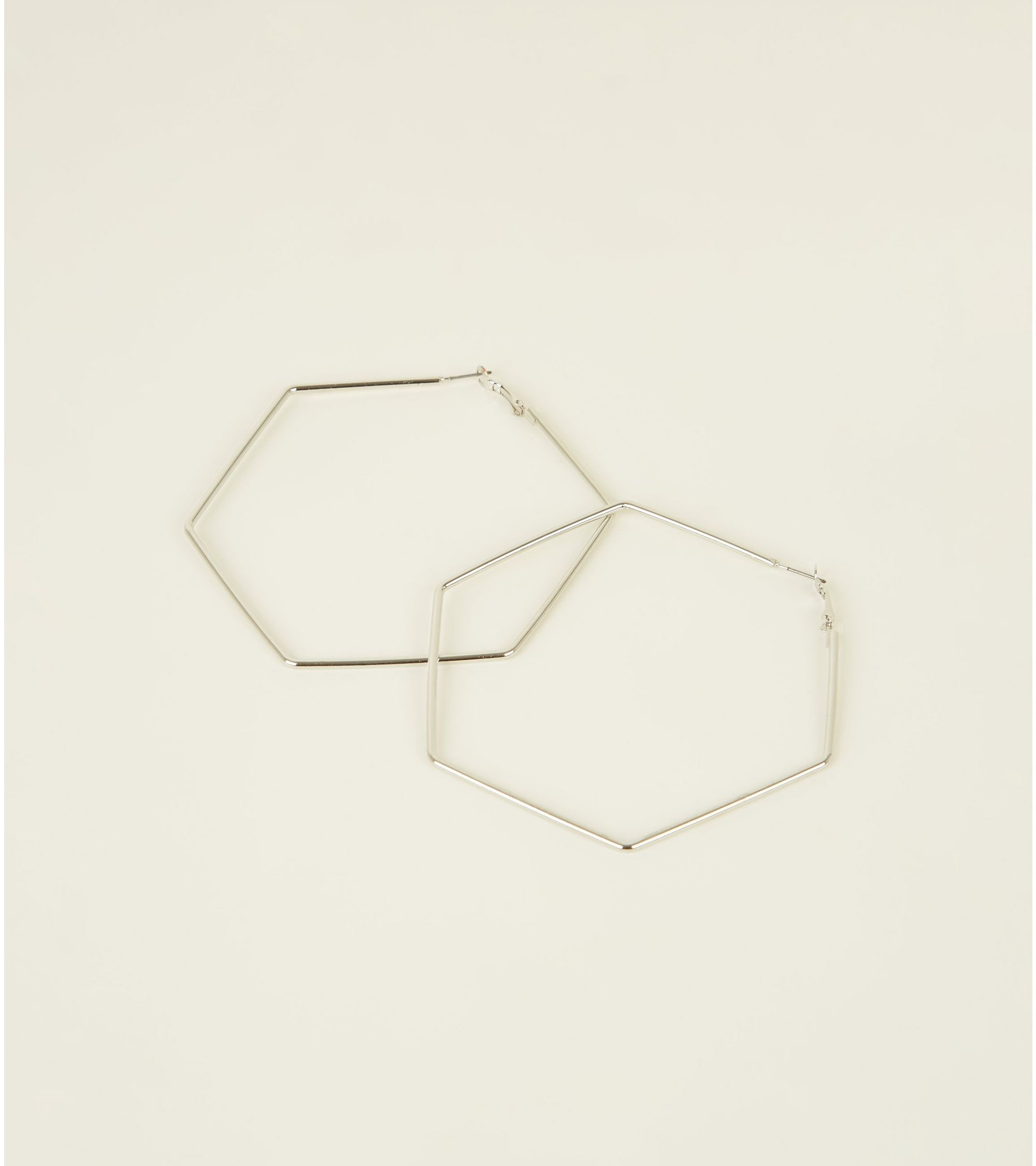 metal collectives make earrings products hexagon image hoop