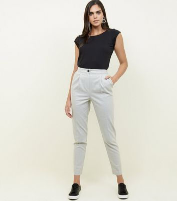 Tall Grey Flannel Look Trousers