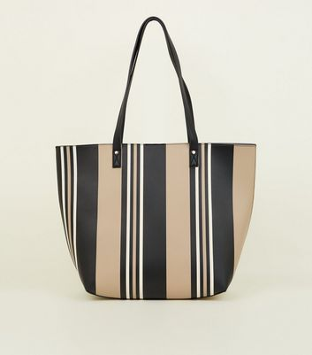 Camel Stripe Tote Bag