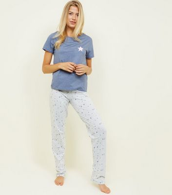 Tall Blue Star Print Pyjama Set by New Look