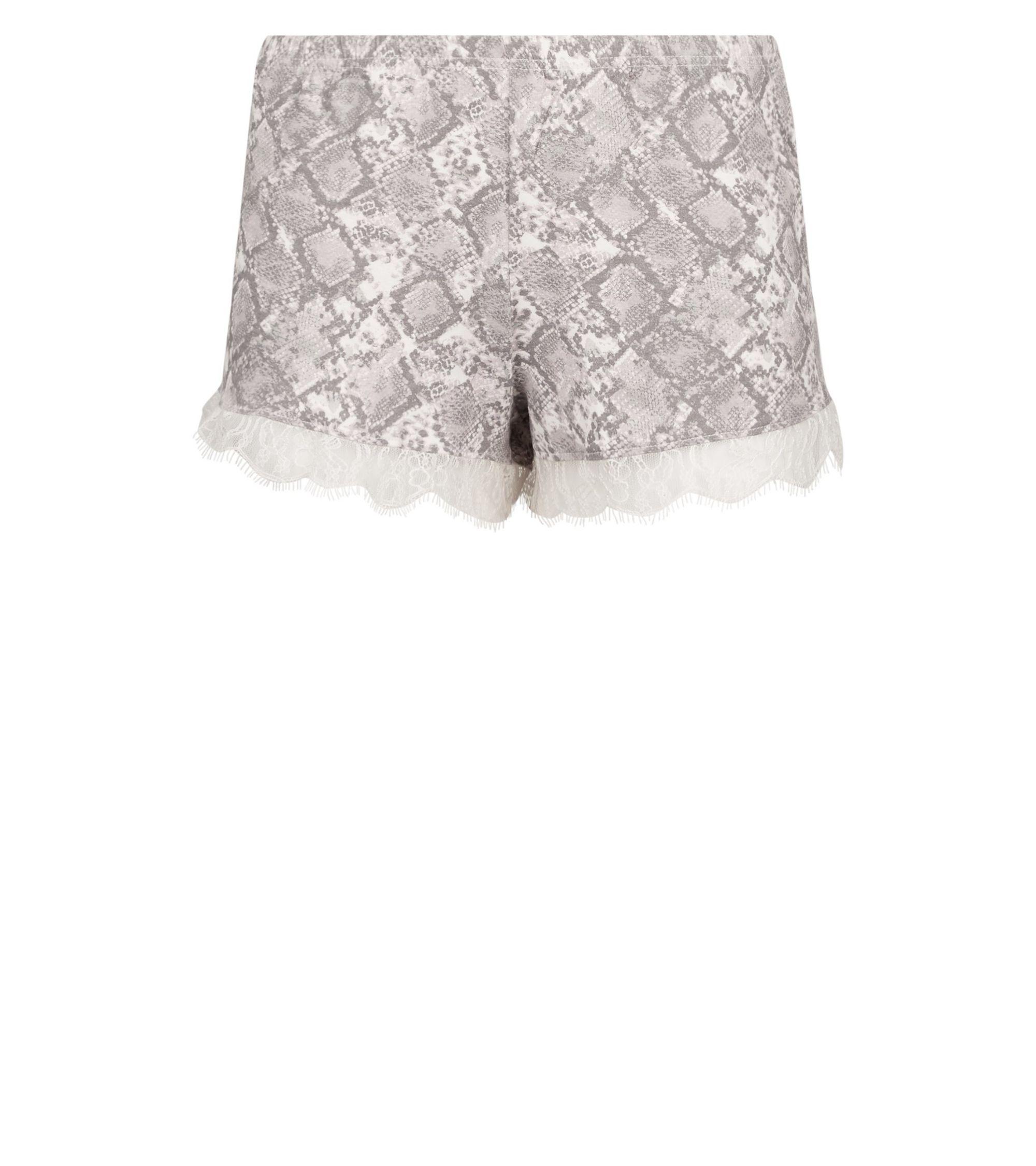 a1bd81bb30d6 New Look Pink Snake Print Lace Trim Pyjama Shorts at £6.99 | love ...