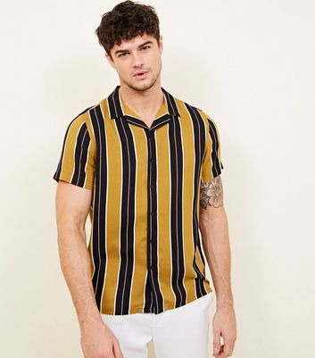 Yellow Stripe Short Sleeve Shirt