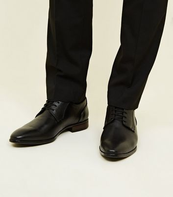 Black Embossed Shoes