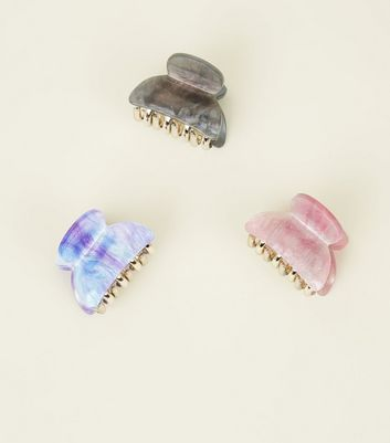 3 Pack Iridescent Galaxy Bulldog Clips