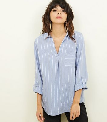 Blue Stripe Pocket Front Shirt