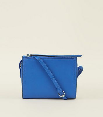 Bright Blue 3 Zip Cross Body Bag