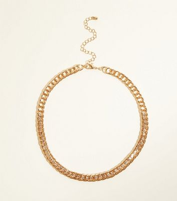 Gold Diamenté Chain Necklace