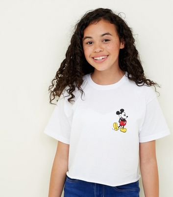 Girls Mickey Mouse Side Logo T-Shirt